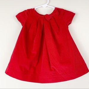 Baby Gap red corduroy dress